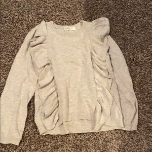 H&M gray cotton soft sweater